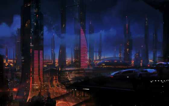 mass, effect, art, futuristic, games, артбук, cityscapes, artwork, desktop,