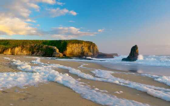берег, песок