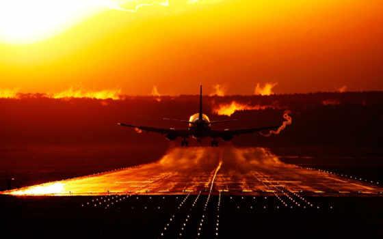 закат, самолёт, военный