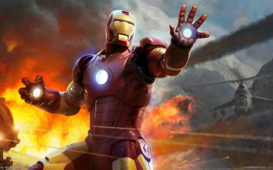 мужчина, iron, железного, человека, фильмы, avengers, супер, tony,