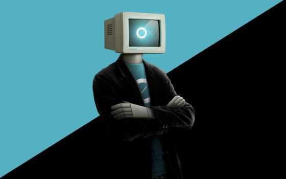 мужчина, компьютер, компьютером, фоны, монитор, головы, заставки, голове,