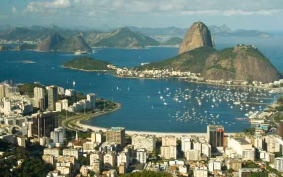 рио, janeiro, brazilian, botafogo, rio, пляж, город, причал, brazil,