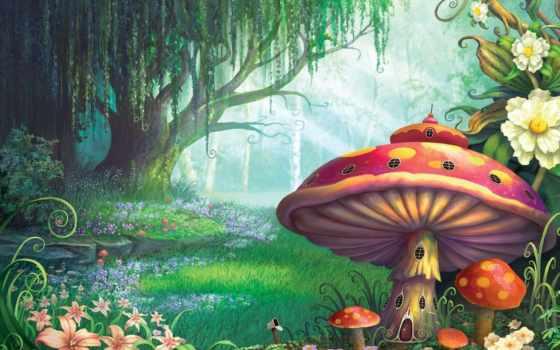 грибы, лес, сказочный, сказочные, мухоморы, lodge, pictures, вышивки, схема,