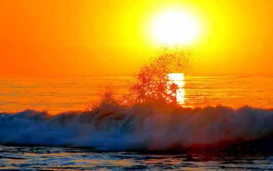 закат, bora, волна, море, природа, naplemente,