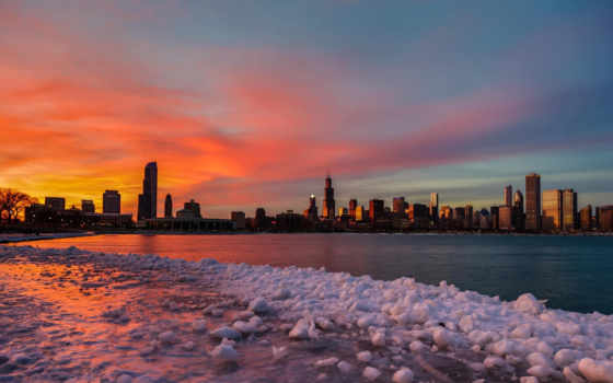 chicago, winter, февр