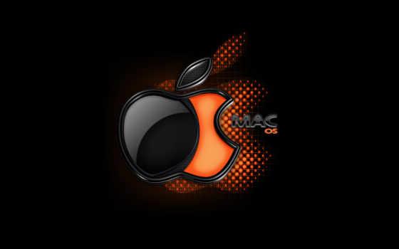 macos лого черно-оранжевое-2
