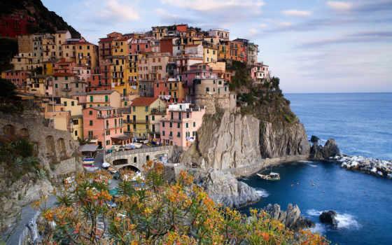 italian, чинкве, terre, manarola, гора, есть, italy, чёрно, cinque,