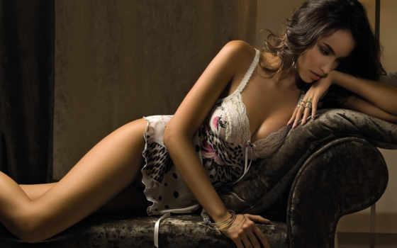 белье, модель, девушка, кружевное, нижнее, белья, madalina, кресло,