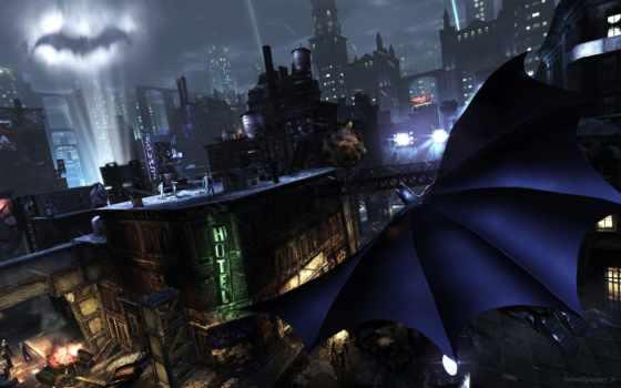 arkham, batman, город,