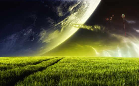 fond, ecran, fantasy, planète, planet, télécharger, design, гладь, dreamy,