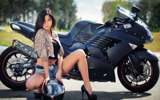 девушка, шлем, bike, kawasaki, devushki, рейтинг, мотоцикл,