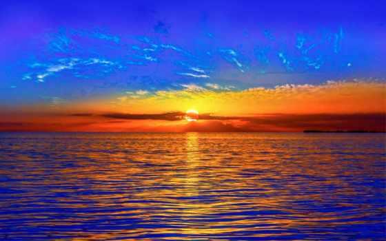 закат, испания, небо, горизонт, природа, пляж, opus, votes,