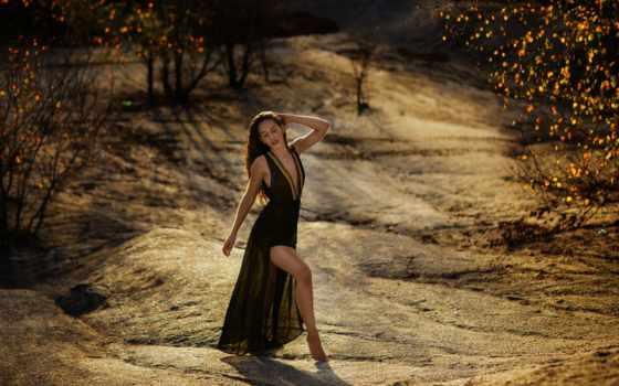 ,, people in nature, природа, фотография, красота, дерево, леди, платье, свет, коричневый, девушка,