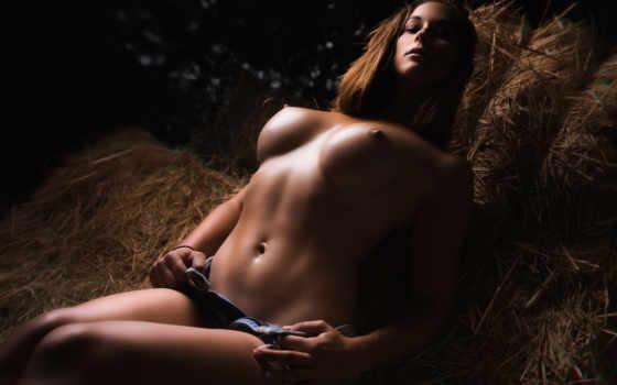, сено, красота, art model, длинные волосы, модель, человеческое тело, грудь, barechested, nude photography, эротика