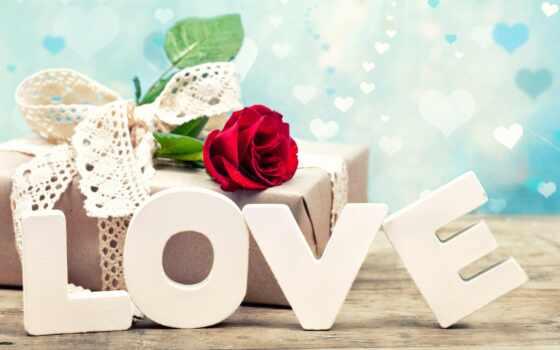роза, love, день, святая, valentine, дар, буква, романтика, сердце, decoration