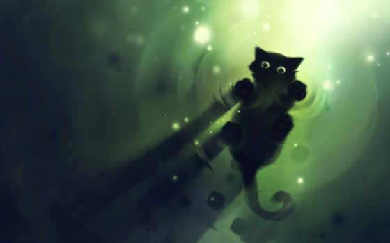 коты, рисованные, кот