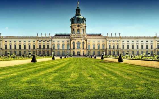 дворец, charlottenburg, шарлоттенбург, berlin, german, берлине, цветов, тур, крылом,