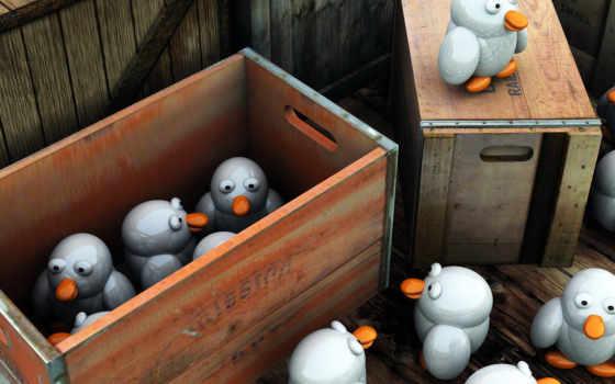 пингвины, игрушки