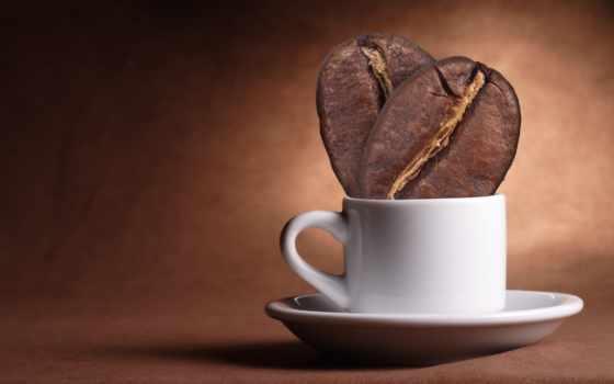 кофе, зерна, чашка
