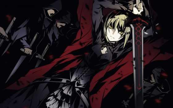 anime, меч