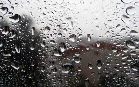 дождь, glass, капли,