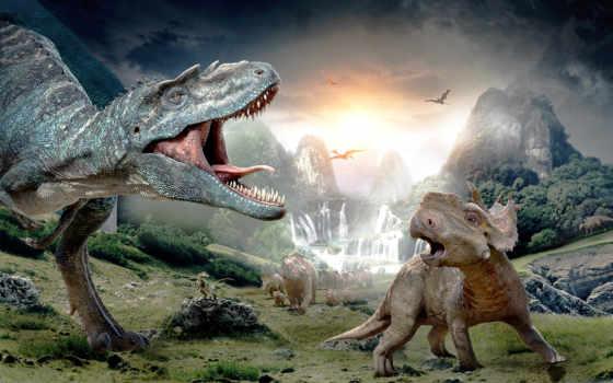 динозавры, картинка, zhivotnye