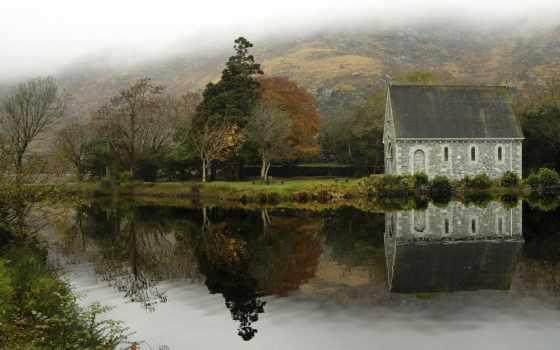 barra, красивые, gougane, заставки, отражение, cork, ирландский, качественные, широкоформатные, есть, уезд,