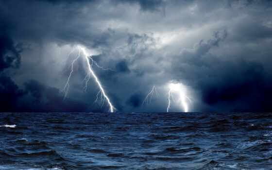 море, ocean, oblaka, небо, молнии, water, буря, спорт, ткань, барикко,