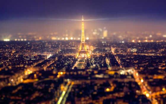ecran, париж, eiffel, франция, fonds, fond, nuit, ville,