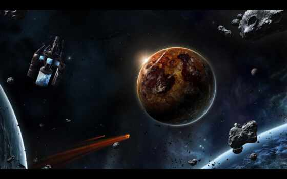 planeta, art, odin, futuristic, planet, spacecraft, shenanigan, fonwall, sobrat, бесплатный, kachestvennyi