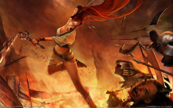 воин, женщина, меч