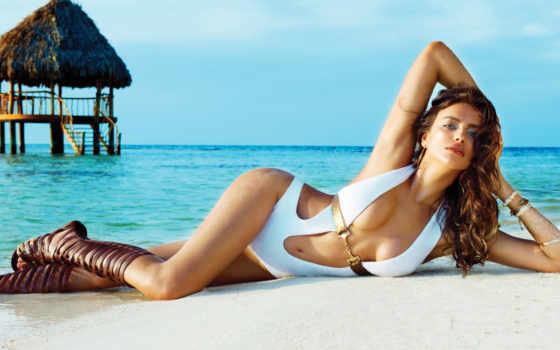 пляж, bunny, irina, swimwear, shayk, качать, irene,