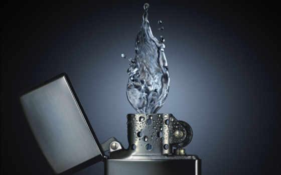water, fire