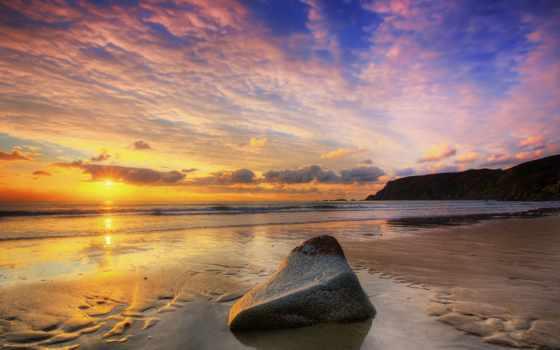 камень, море