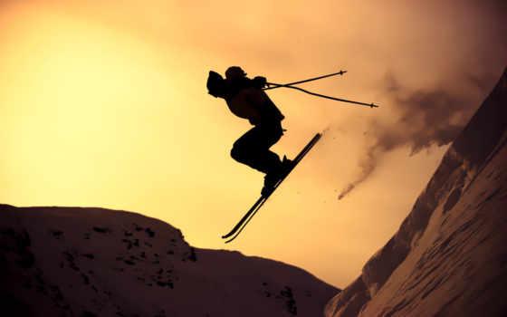 лыжи, спорт, горные
