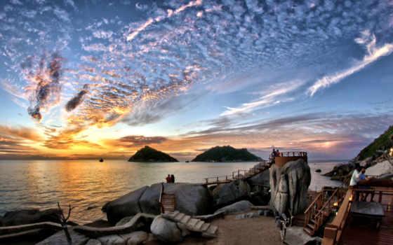 таиланд, остров, bay, сиамский, tao,