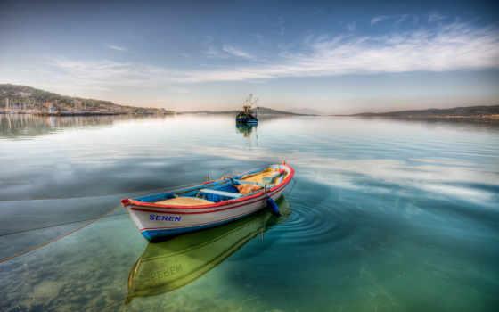 качественные, barcos, paisagem, barco, озере, pack, lanchas, лодка, небольшом,