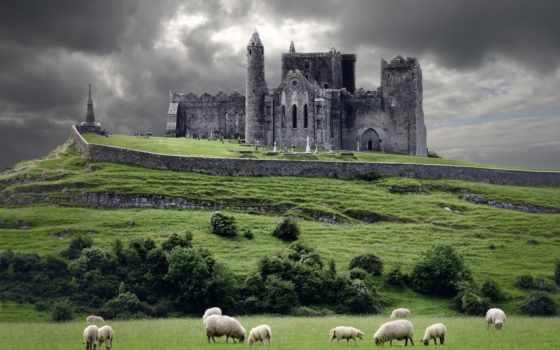 ирландский, ireland, фотообои, ирландии, fone, высоком, телефон, park,