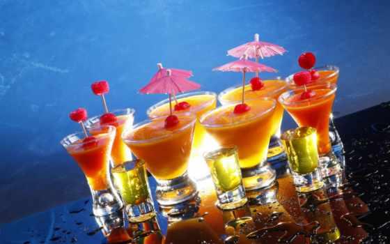 коктейль, фона, моя, бокалы, оранжевый,