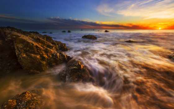 пляж, закат, море, ocean, картинка, adsbygoogle, adsense, state, камень, rock