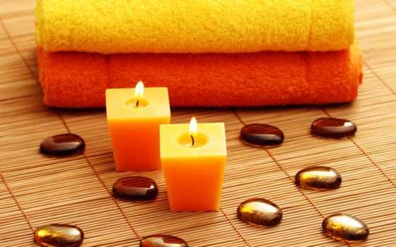 спа, камни, свечи, салон, полотенца, mat,