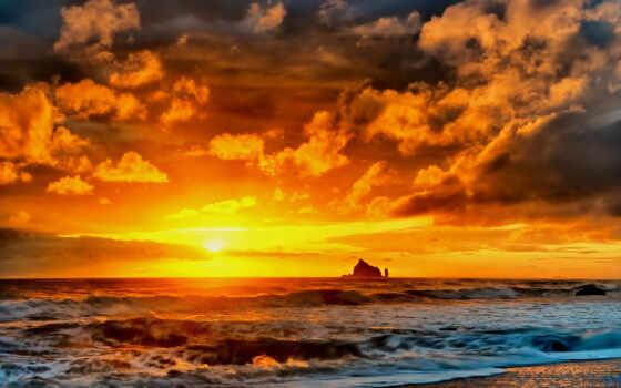 закат, пляж, море Фон № 108144 разрешение 1920x1200