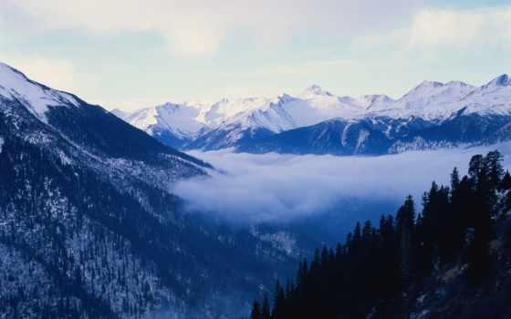 winter, горы, time