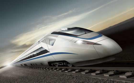поезд, high, скорость
