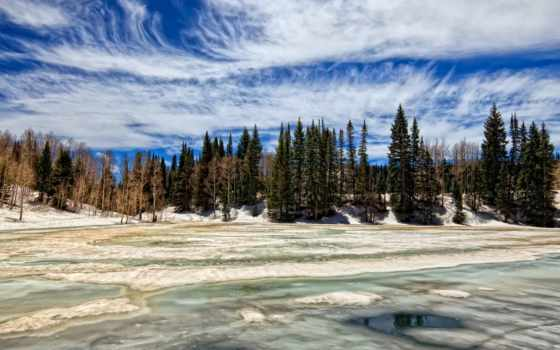 hintergrundbild, озеро, desktop, замёрзшее, landscapes, deviantart,
