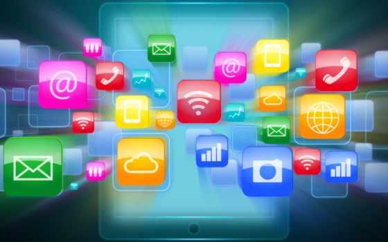 технологии, планшетный, иконки, программы, tech,