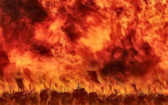 огонь, бла, chaos, dark, warhammer, которые, мире, крыша, страница,