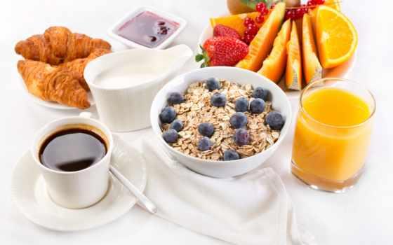 coffee, фрукты, завтрак, овсянка, juice, джем, круассаны, напитки, сервинг, мороженое,