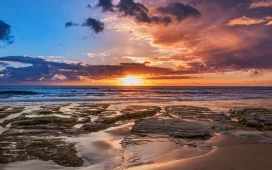 сицилия, море, fast, природа, побережье, закат, рассвет, восход, небо, сорт