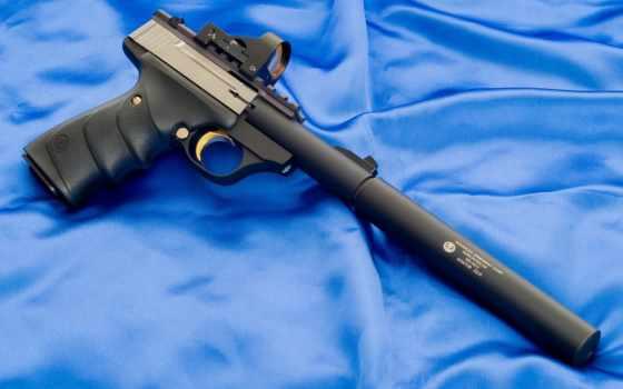 оружие, пистолет, buck, standard, mark, browning, stainless, chambered, глушителем, dot, lr, più, urx, has, правой, картинку,